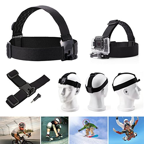 VVHOOY Universal Action Camera Accessories Bundle-Head Chest Strap Mount/Selfie Stick/Floating Hand Grip Compatible with Campark ACT74 X40 X35/Dragon Touch 4K/AKASO EK7000 Brave 4 5 6/Vantop Moment
