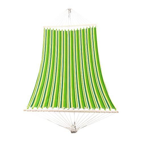 Elegante estilo de impresión hamaca de playa columpio camas dobles para camping al aire libre viajes verde