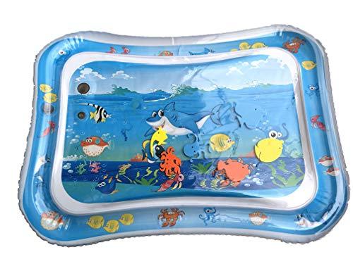Colchoneta de agua para bebé, juguete para niños de 3, 6, 9, 12 y 18 meses, color azul claro