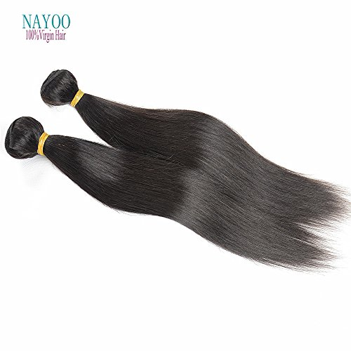 Cheveux Vierges Péruviens nayoo® droite 4 trames de cheveux vierges 8 A Cheveux non traités Deals nayoo produits cheveux Péruviens Cheveux raides