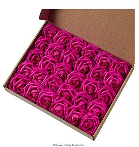 jjdp Fiore Artificiale Marry Acting Mothers Day Gift - Fiore Artificiale Rose 30Pcs Real Touch Rose Artificiali per Bouquet Fai da Te Festa Nuziale Baby Shower Home Decor