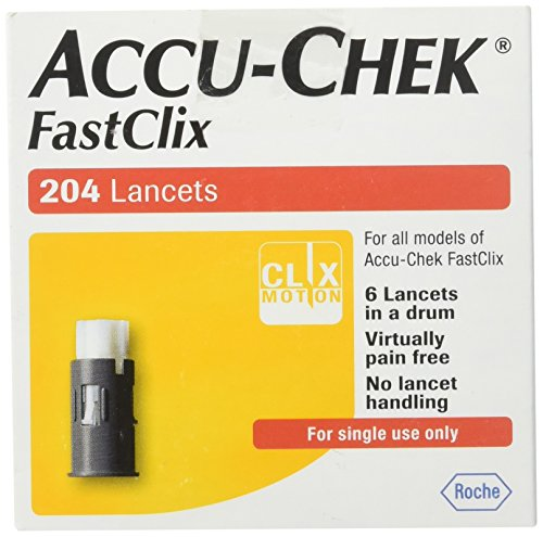 Accu Chek FastClix 200 4 test strips