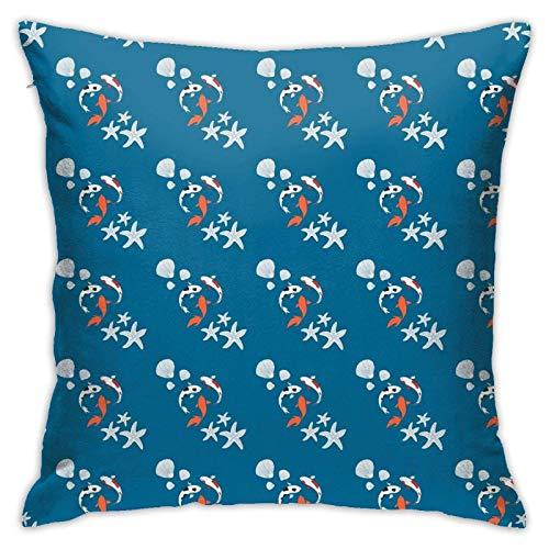 Yanting Koi Fisch Kissenbezug Boden Kissenbezug Sofa Kissen Kissenbezug Rückenlehne über Kissen Interieur