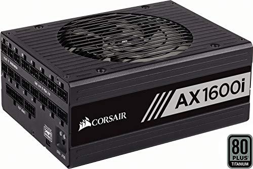 Corsair AX1600i Alimentatore Digitale, 1600 Watt, Completamente Modulare, Certificazione Titanium 80+, Nero