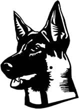 YINGJUN 15.2x21.2CM Shepard Dog Classic raamstickers Personality Car Styling interieurstickers Zwart/Sliver C6-1014 Access...