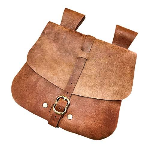 Mythrojan Medieval Jewelry Belt Pouch LARP Renaissance Waist Bag - Brown