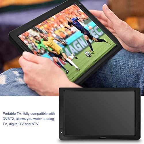 Tragbarer HD TV,Digital Multimedia Player DVB-T/T2 HD Analog Fernseher DVD Player Monitor Bildschirm,12inch,unterstützt TF Card USB und Audio, für zu Hause, Auto, Urlaub Camping (Eu)