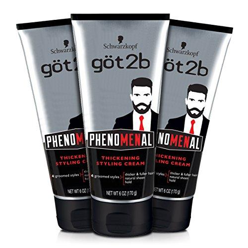 Got2b Phenomenal Thickening Hair Styling Cream, 6 Ounce, 3 Count