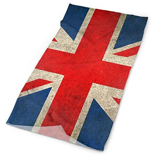 Nonebrand Old And Wear Vintage desgastado bandera de la bandera de la Reino Unido Multifuncional Elástico para el cuello al aire libre, transpirable, protección UV, protector de la cara, calentador de la cara para todo el año