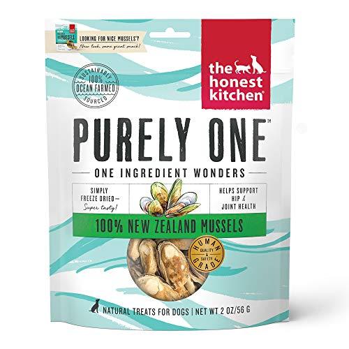 The Honest Kitchen Nice Mussels - Natural Human Grade Freeze Dried Blue & Green Mussels Dog Treats