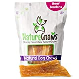 Nature Gnaws Paddywack Tendons for Dogs - Premium Natural Beef Bones - Long Lasting Dog Chew Treats for Large Dogs - Rawhide Free - 6 Inch (5 Count)