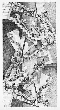 Germanposters M.C. Escher Póster De Impresión Escalera 28