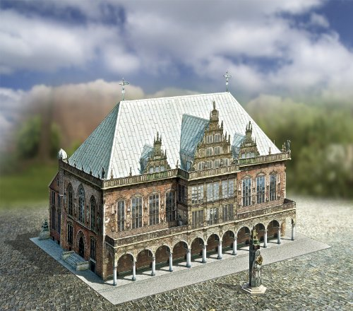 Aue Verlag 30 x 20 x 20 cm Old Town Hall Bremen Germany Model Kit