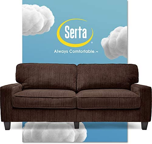 Best Serta Palisades Upholstered Sofas for Living Room Modern Design Couch, Straight Arms, Soft Fabric Up