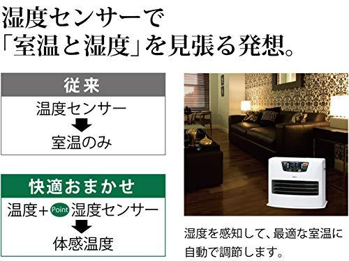 トヨトミ石油ファンヒーター(木造10畳まで/コンクリート13畳まで)日本製シルキーホワイトLC-SL36H(W)