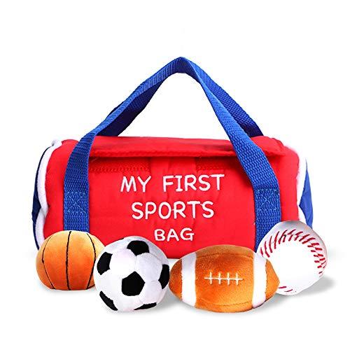 Baby Sporttasche Kleinkind Activity Ball Sets mit Plüsch Basketball Baseball Fußball Fußball Großes Geschenk Spielzeug für Kinder