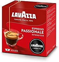 Lavazza A Modo Mio Café Espresso Passionale Capsules, 100% Arabica, Paquet de 36 capsules monodoses de café moulu