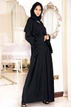 Nukhbaa abaya made with fine fabric, comes with matching Hijab.
