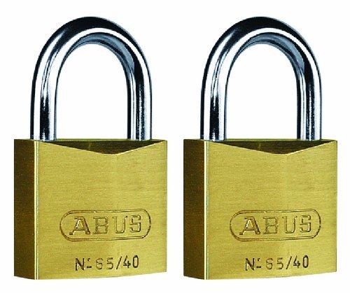 Abus - 65/40 mm messing hangslot Twin Carded - ABU6540TC