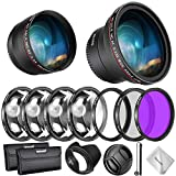 Neewer Filtri 58mm & Accessori per Obiettivo Canon Rebel EF-S 18-55mm: 0,43X Grandangolo, ...