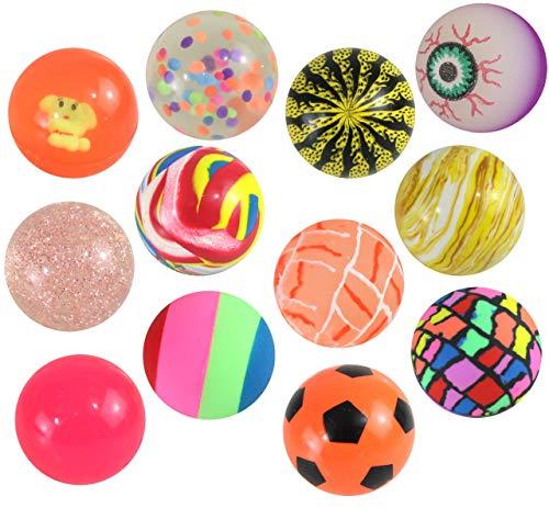 Flummis bunt gemischt 12 Stück mit ca. 40 mm Durchmesser Springball Dopsball