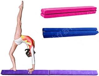 7ft Folding Gymnastics Balance Beam 2.2M Non-Slip Base Gym Training Equipment Sport Accessory for Kids Beginners Gymnasts