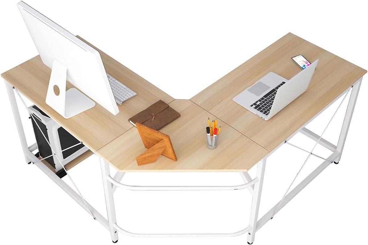 soges Eckschreibtisch Computertisch Gaming Tisch Mit L-Form Winkelschreibtisch großer Gaming Schreibtisch Bürotisch Ecktisch Arbeitstisch PC Laptop…