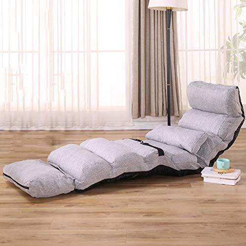 LSRRYD Stoel, vloer, draagbaar, verstelbaar, met rugleuning, gevoerde en opvouwbare stoelen, wasbaar, zacht, voor yoga, meditatiestoel