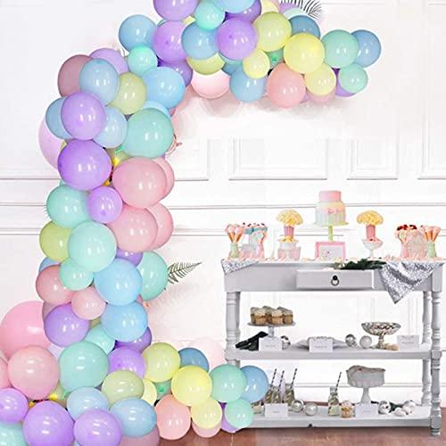 Qyaml Kit De Guirnalda De Arco De Globos Multicolores, con 110 Piezas De Globos De Látex para Decoraciones De Despedida De Soltero De Bodas De Cumpleaños De Niñas Y Niños
