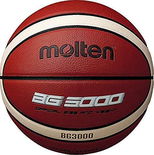 Molten BG3000 Baloncesto, Interior/Exterior, Piel sintética, Talla 5, Naranja/Marfil, Adecuado para niños de 7, 8, 9, 10 y 11 años, niñas de 12 y 13 años