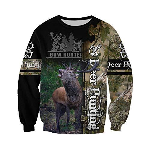 Deer Camo 3D All Over Impreso Sudadera con capucha Hombres Mujeres Harajuku Moda Sudadera con Capucha Casual Chaqueta Pullover
