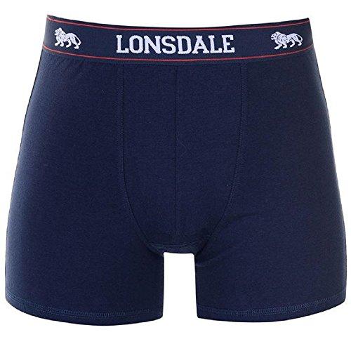 Herren-Boxershorts, elastisch, Größe L, Marineblau, 2 Stück