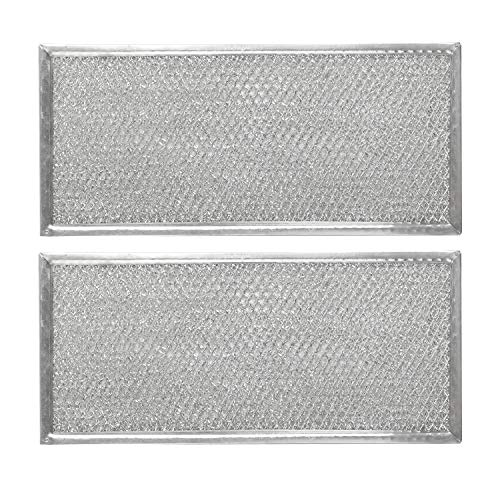 """W10208631A Primeswift Aluminum Mesh Lightweight Microwave Grease Filter Compatible with Whirlpool Replacement for W10208631 AH3650910 AP5617368 PS3650910 Pack of 2 Approx 13"""" x 6"""""""