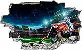 DesFoli Football USA 3D Look Wandtattoo 70 x 115 cm Wanddurchbruch Wandbild Sticker Aufkleber C605