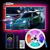 Smart Ruban LED USB WIFI, Etersky 3M LED Bande Intelligente Lumineuse 5050 RGB avec Télécommande, Compatible avec Alexa/Google Home, LED Strip Light Contrôlé par APP, Fonction de Minuterie et Partage