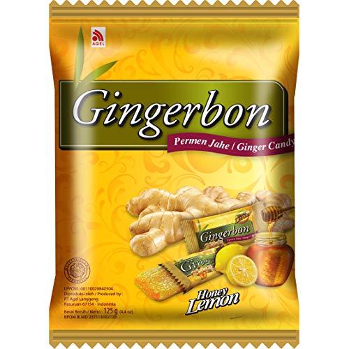 GINGERBON Ingwer Zitrone Honig Bonbons, 125 g