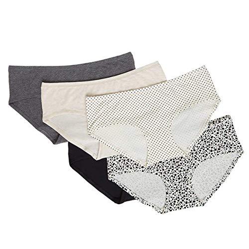 Carole Hochman Ladies' 5-Pack Hipster Panty (Large, Grey)