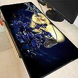Große Anime Mauspad Gamer Mousepad Gummi Gaming Schreibtisch Matte mit Rastkante für Kingdom...
