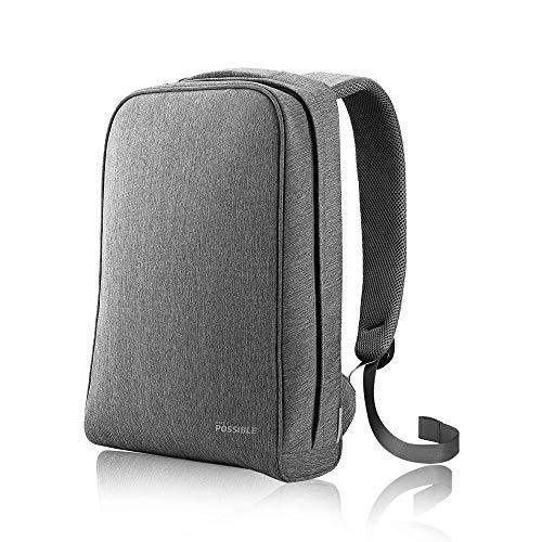 HUAWEI Notebook Rucksack mit einstellbaren & gepolsterten Schultergurten, Grau, 51992084, einheitsgröße