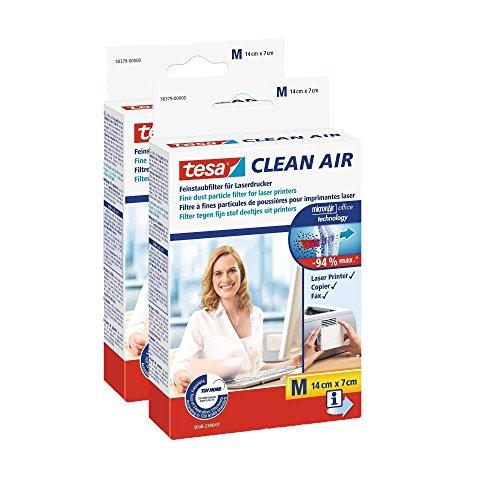 Tesa Feinstaubfilter für Laserdrucker, Clean Air (2× Größe M)