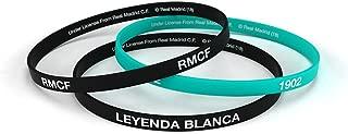 Pulsera Real Madrid Club de Fútbol Negra Esmeralda Estándar para Hombre, Pulsera de Silicona, Producto Oficial
