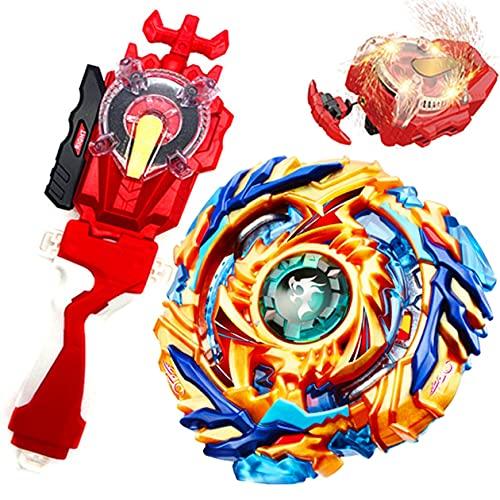 Sparking Launcher Lr String Launcher Grip Starter Set Master God Bey Battle B-79 Booster Drain Fafnir.8.Nt Bey Burst Evolution Turbo Blade Battling Tops Gaming Spinning Toy Gift for Boys Kids