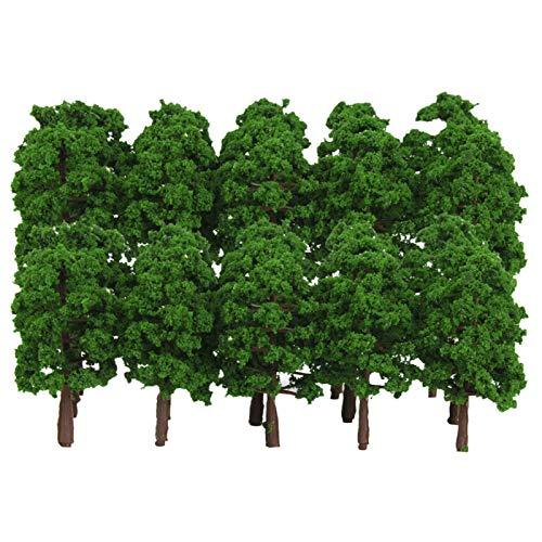 Hyzb 40x Modelo de árboles Diseño Train Train Ferrocarril Diorama Paisaje Paisaje 1: 150 n Escala Llena de Tela de Colores, Regla y Tijeras