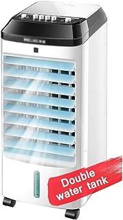 XSJZ Refrigerador Portátil de Aire Acondicionado, Refrigerador de Aire Simple Temporizado de 12 Horas, Tanque de Agua Doble, Ventilador de Aire Refrigerado Por Agua, Dormitorio Doméstico Pequeño, Aire
