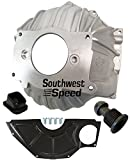 NEW SWS CHEVY 403 ALUMINUM BELLHOUSING, FLYWHEEL INSPECTION COVER, CLUTCH FORK BOOT & CLUTCH PIVOT BALL, STAMPED WITH #GM 3858403 REPLACEMENT FOR SBC & BBC FOR 10.5' MANUAL CLUTCH APPLICATIONS