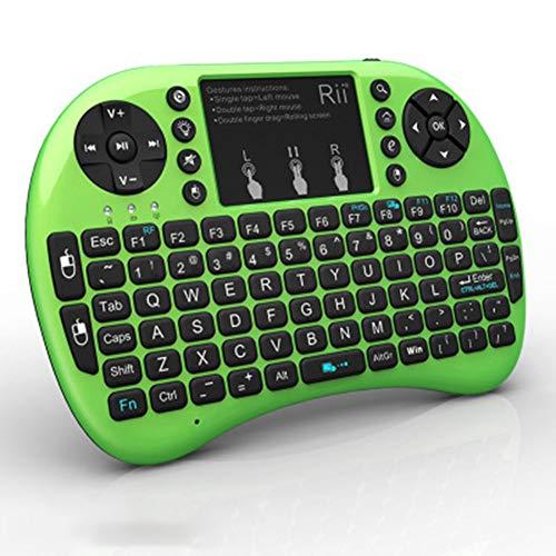 XUCHEN Wired Mechanical Gaming Keyboard, Ultra-dünne All-Metallrahmen USB Wired Keyboard, Comfortable Wrist Rest Regenbogen-LED helle leuchtende Tasten Plug & Play,Grün