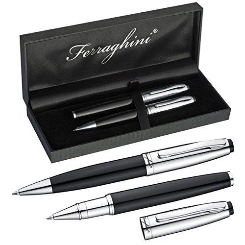 Ferraghinie Schreibset mit Kugelschreiber und einem Rollerball im edlen Etui