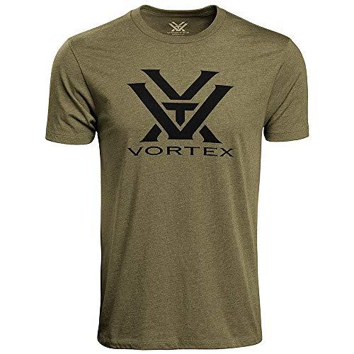 Vortex Optics Logo Short Sleeve T-Shirts (Military Heather, X-Large)