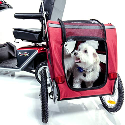 Pet Carrier Trailer for Mobility Scooters and Travel J2840 | Portable + Removable | Challenger...