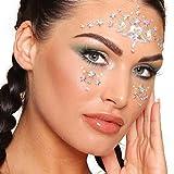 Paintglow Pegatinas para la cara con diseño de ojos de estrellas. Paquete de 12 unidades – 21 g
